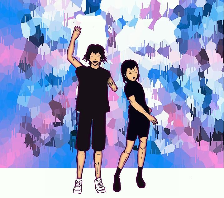 Sweet Couple Illust of Sinchan96 sci-fi July2020_Contest:Anniversary manga illustration support contest sweet anime anniversary couple