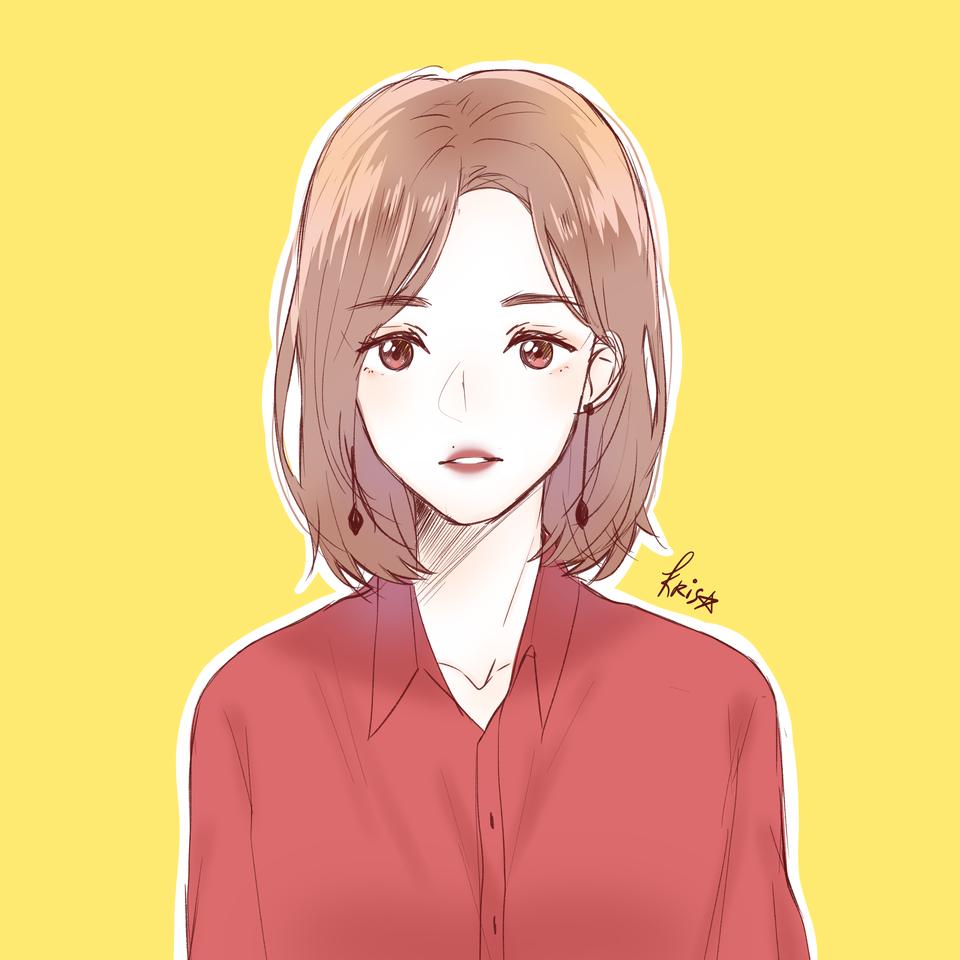💛💛💛 Illust of krisppie medibangpaint doodle girl sketch illustration yellow anime
