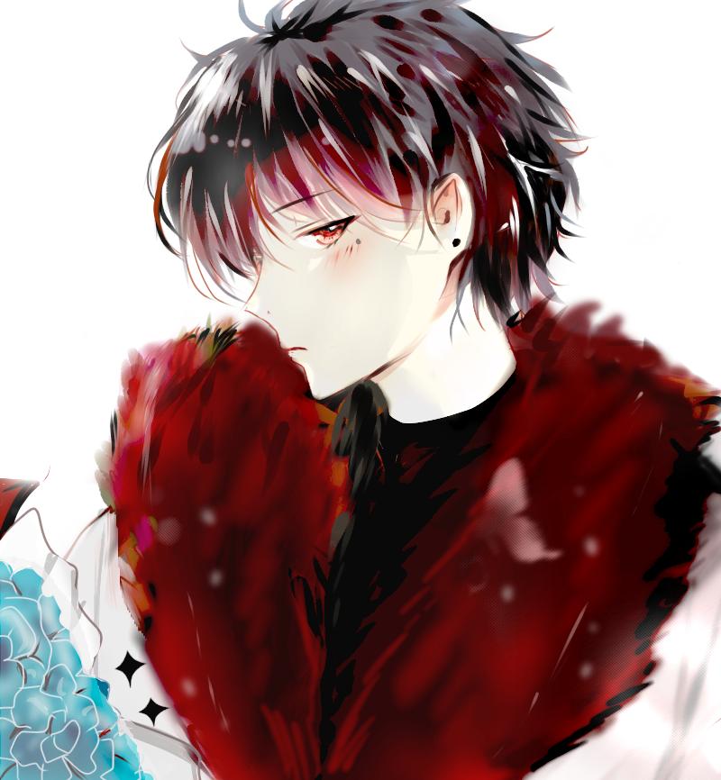 Sanguine Vampire Illust of Aiba January2021_Contest:OC oc vampireoc anime rich piercing red boy bluerose redeyes vampire