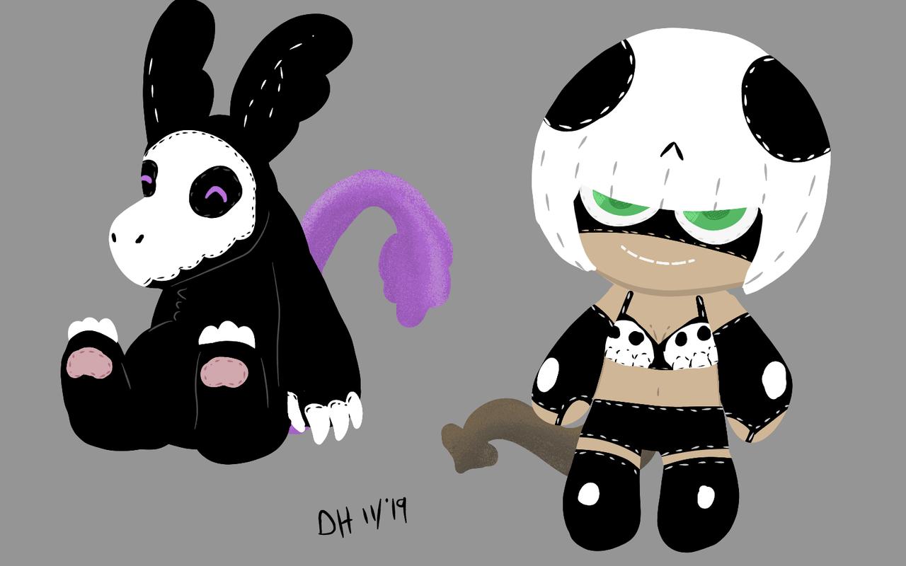 OCs as dolls (i tried)