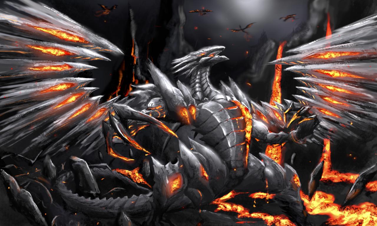 龙 Illust of 白胖圆 lava dragon 熔岩 龙