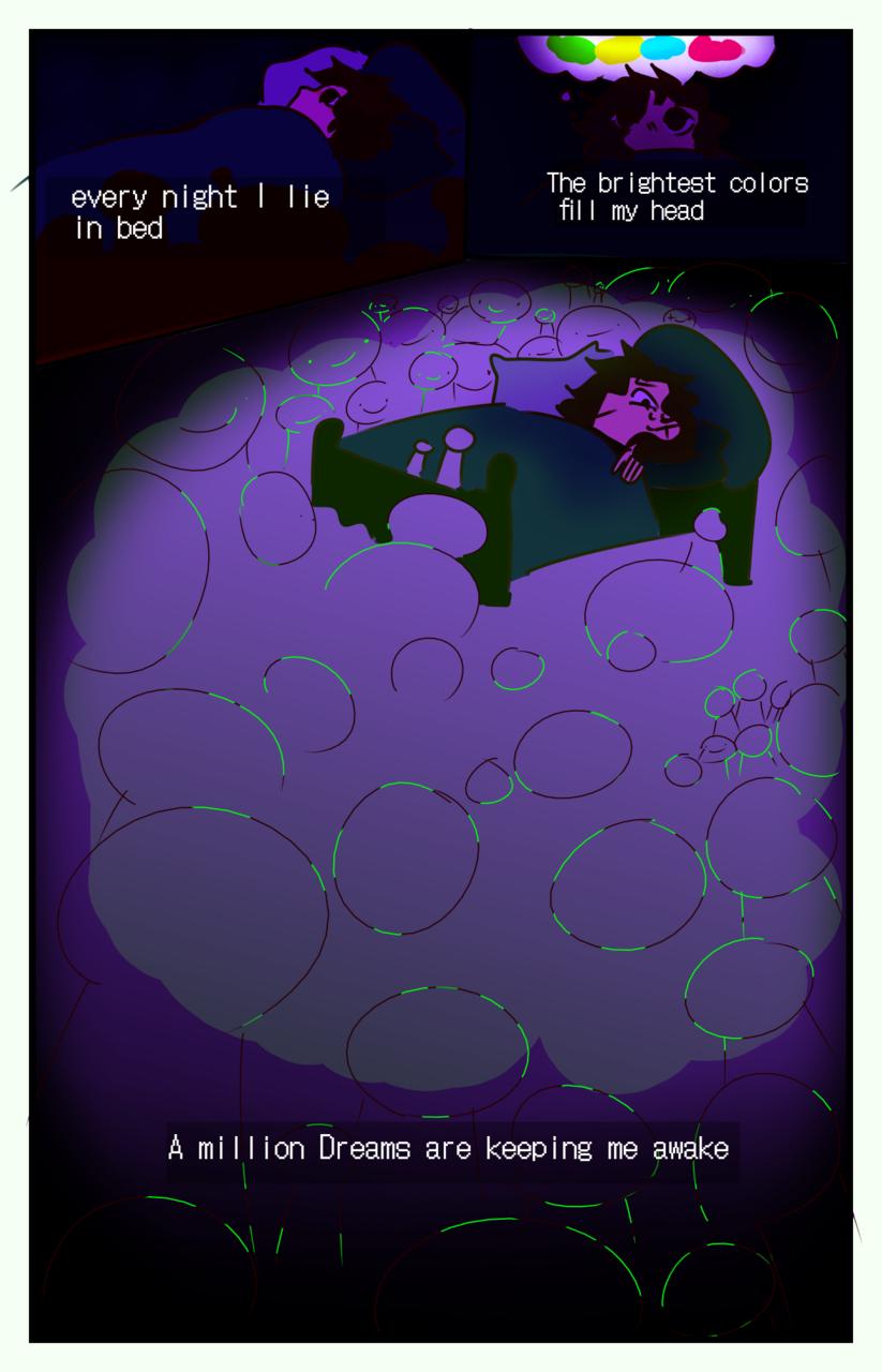 A million Dreams are keeping me awake  Illust of Skye Finch (•♬• sᴏᴄᴋ-ʙᴀɪᴛ™ •♬•) medibangpaint meme amilliondreams Dream song mcyt