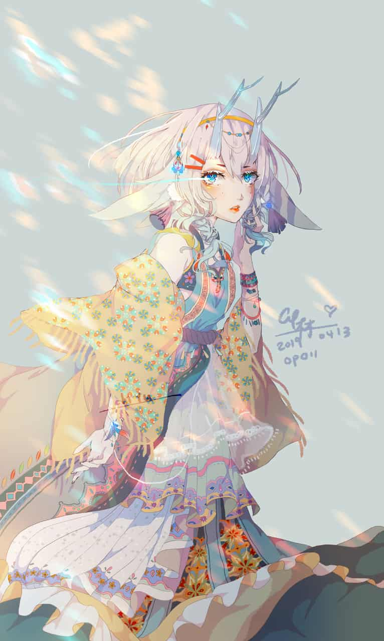 Bravely move forward Illust of 木木/LIN CY May.2020Contest:Cheering illustration painting 挿し絵 original girl 加油 イラストレーション