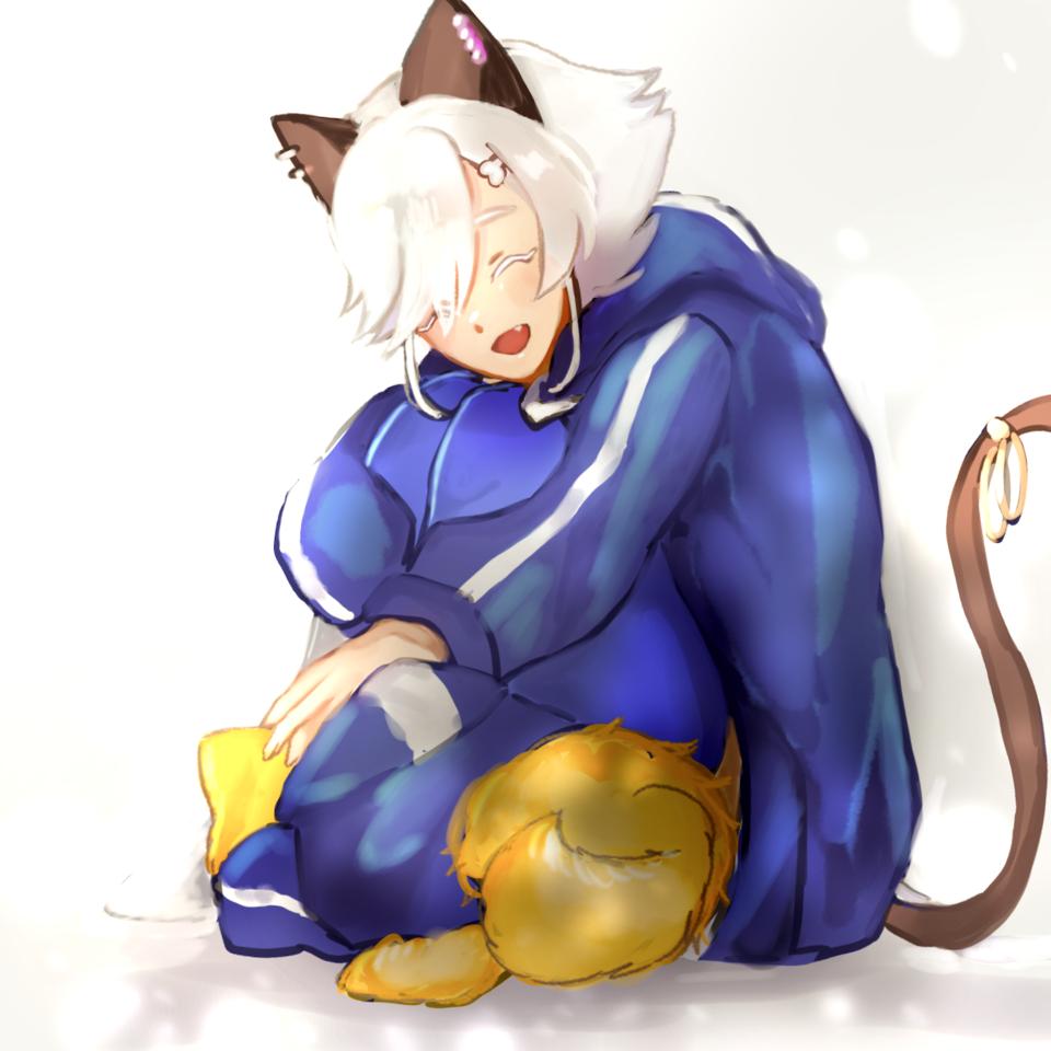 Day 7-いままでのお題のどれか/おつかれさま Illust of samidare レッツワンドロ original girl cat_ears