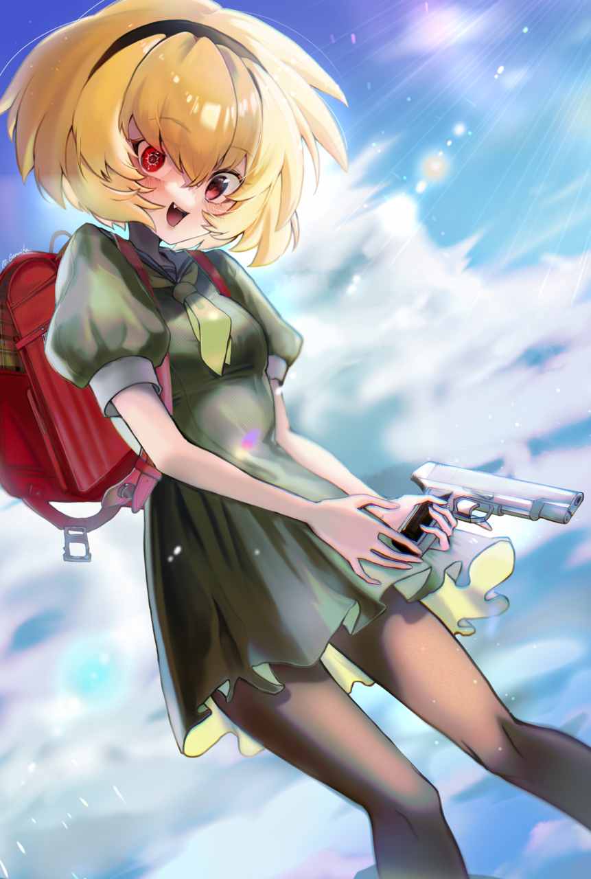 沙都子ちゃん Illust of Geronika WhenTheyCry girl Gun illustration 北条沙都子
