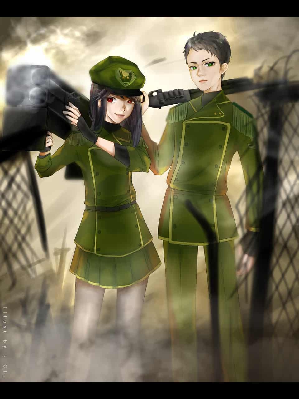 Fantasy Military/Army Uniform #HumanAcademy_2019