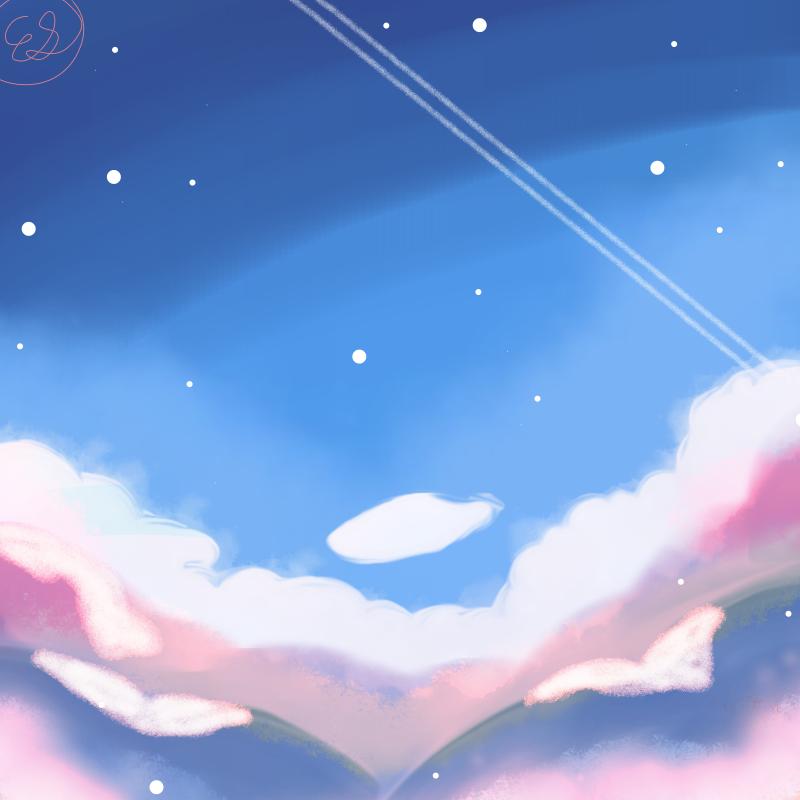 Sky! Illust of REI medibangpaint pastel sky SkyTutorial
