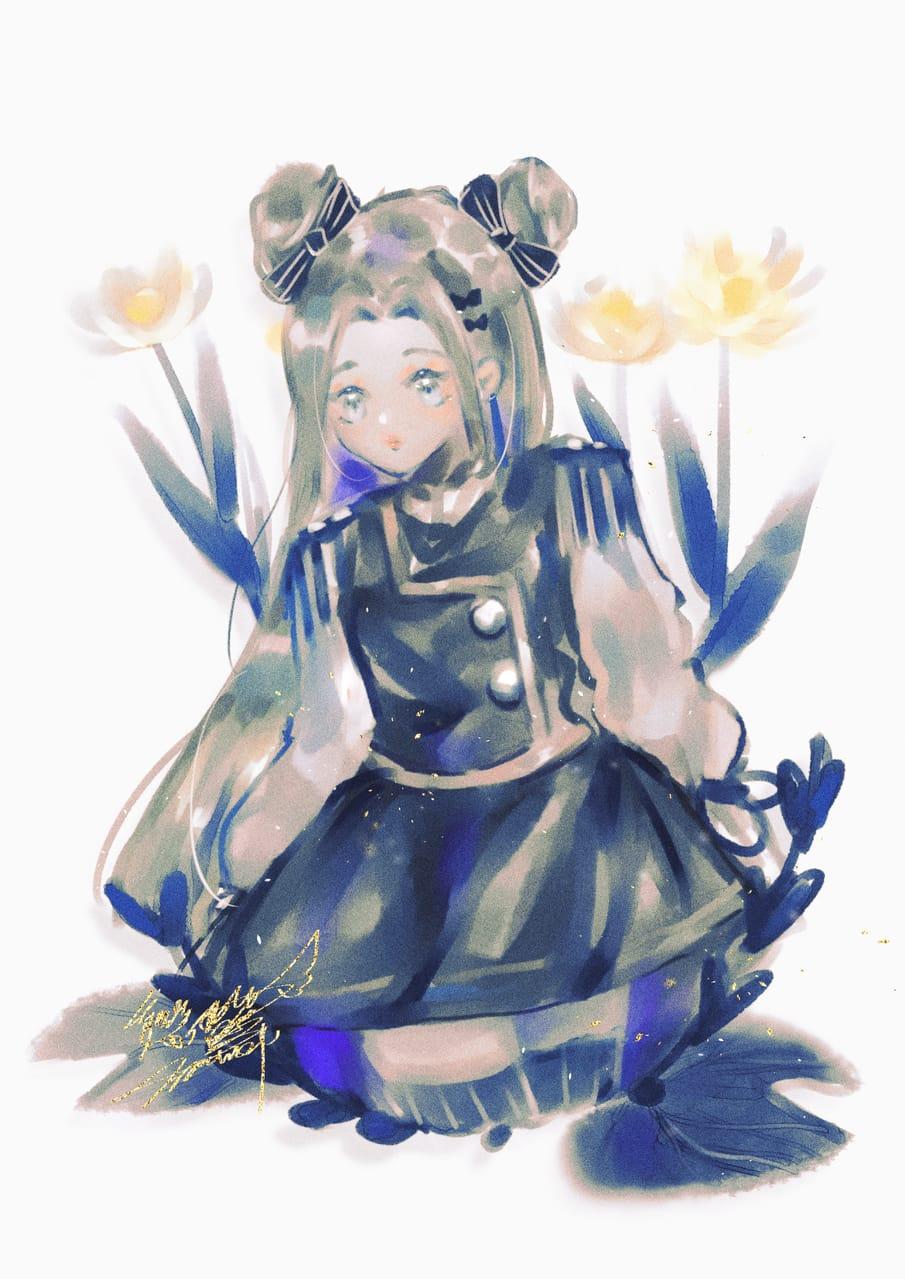 花 Illust of 戀夢夢 April2021_Flower original girl 戀夢夢 cute doodle flower
