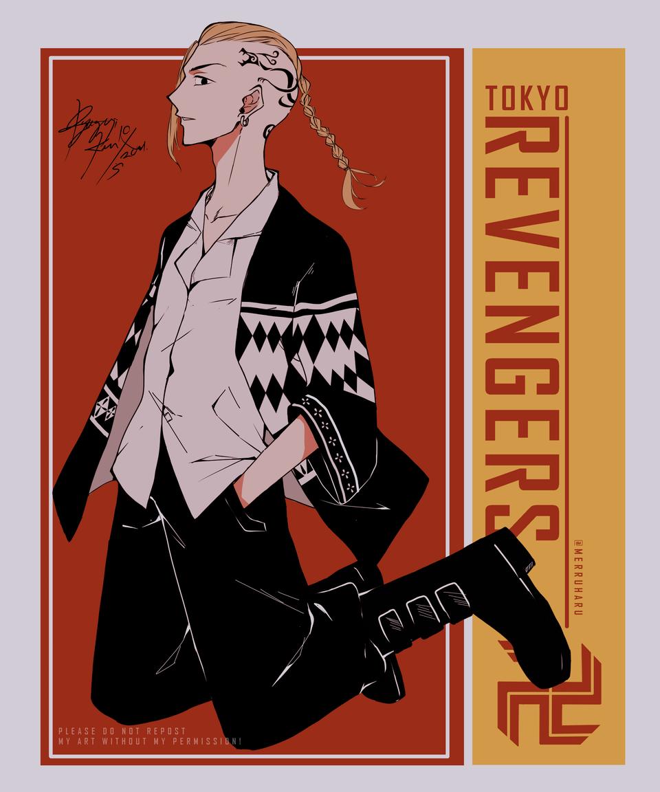 龍宮寺健ファンアート - Draken Fanart | Tokyo Revengers Illust of PinaplePoo medibangpaint artist 龍宮寺健 fanart Draken medibangpaintproart Artwork Ryugujiken tokyorevengers fanartdigital