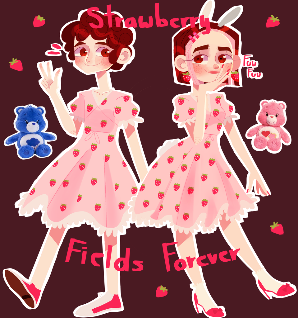 🍓🌸Strawberry Fields Forever 🌸🍓 Illust of PinkLemonadeGurl medibangpaint Strawberrydress