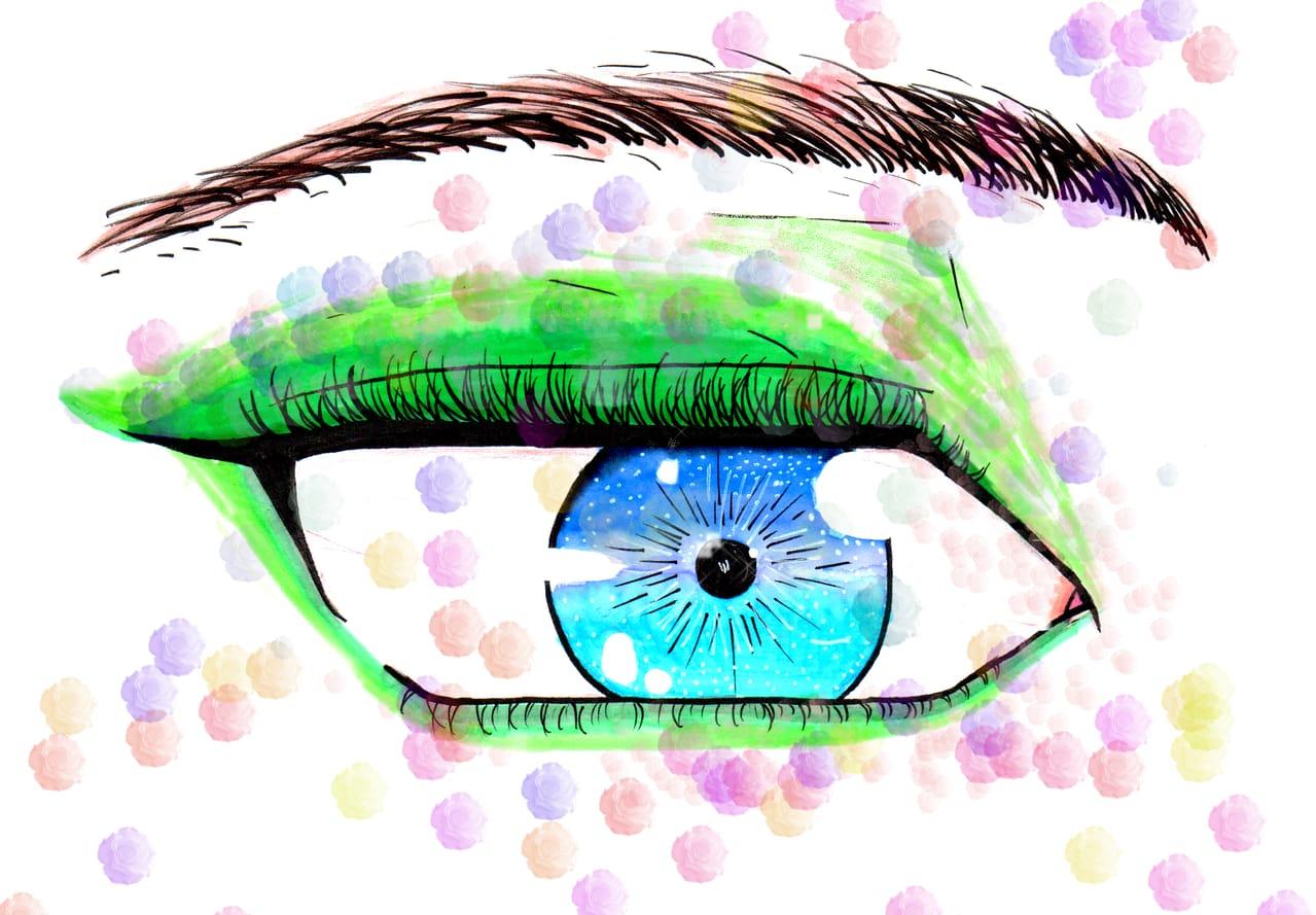 flower eyes Illust of @rocel_ April2021_Flower art medibangpaint