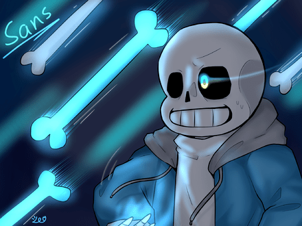 dusttale sans art by me have a mad time 白野櫻 illustrations