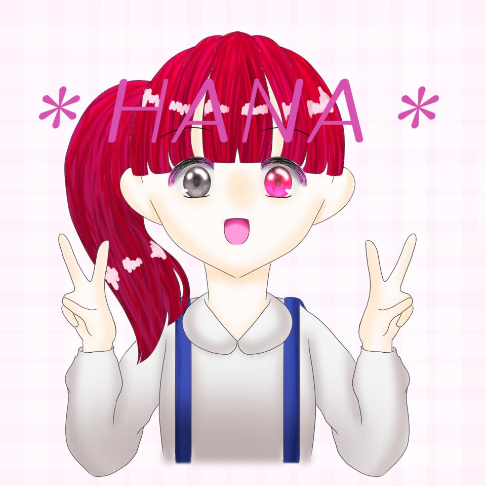 *はな*ちゃんのアイコン!! Illust of れもん#お味噌汁崇拝 digital girl 5分で♡5コありがとう はな* kawaii line_art れもん🎀 icon