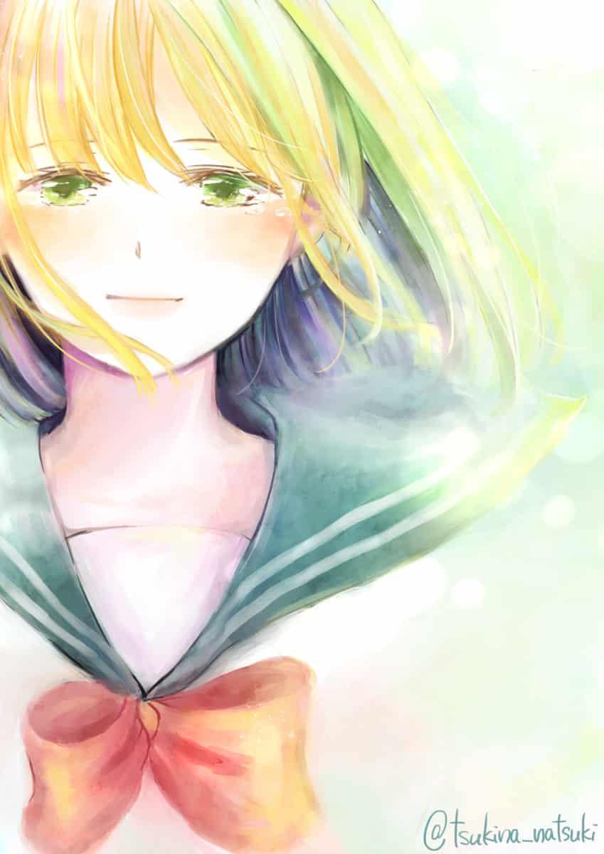 青葉の季節 Illust of 月名なつき original 高校生 sailor_uniform girl