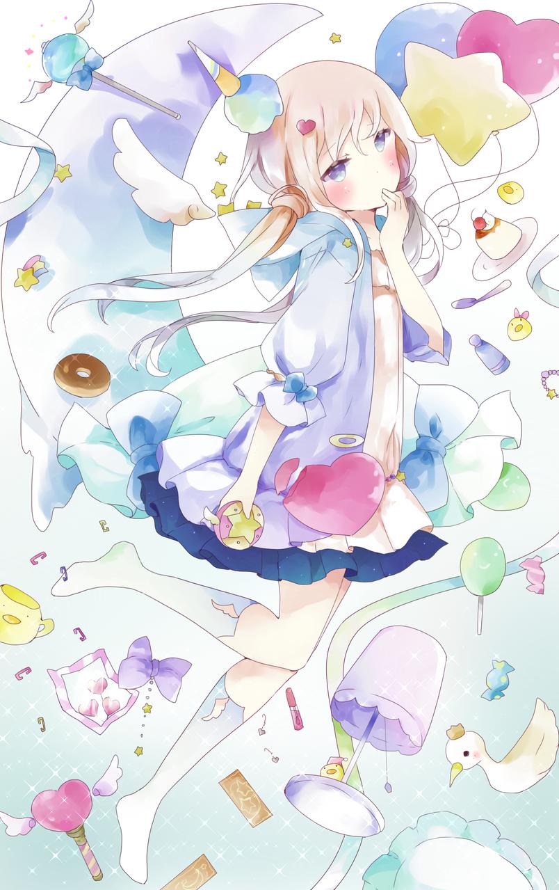 💕 Illust of 月夜 パステルカラー girl original