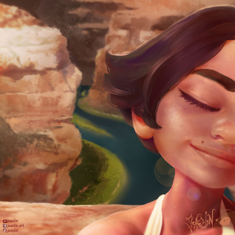 Grand Canyon Illust of JoAsLiN ARTstreet_Ranking art canyon girl smile cute anime illustration eyes digital original