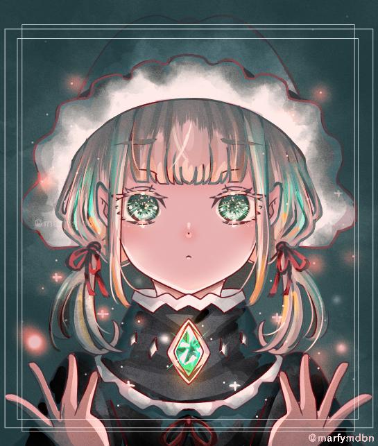 emerald Illust of Marfy January2021_Contest:OC impasto メルヘン きらきら 宝石 girl emerald kawaii
