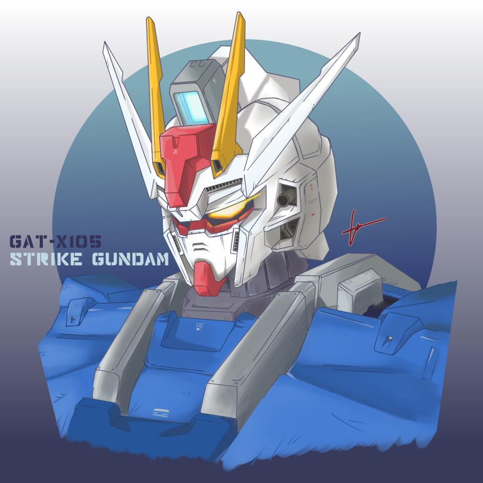 Strike Gundam fanart Illust of Wizzygonediaz mecha fanart GUNDAM medibangpaint MobileSuitGundamSEED