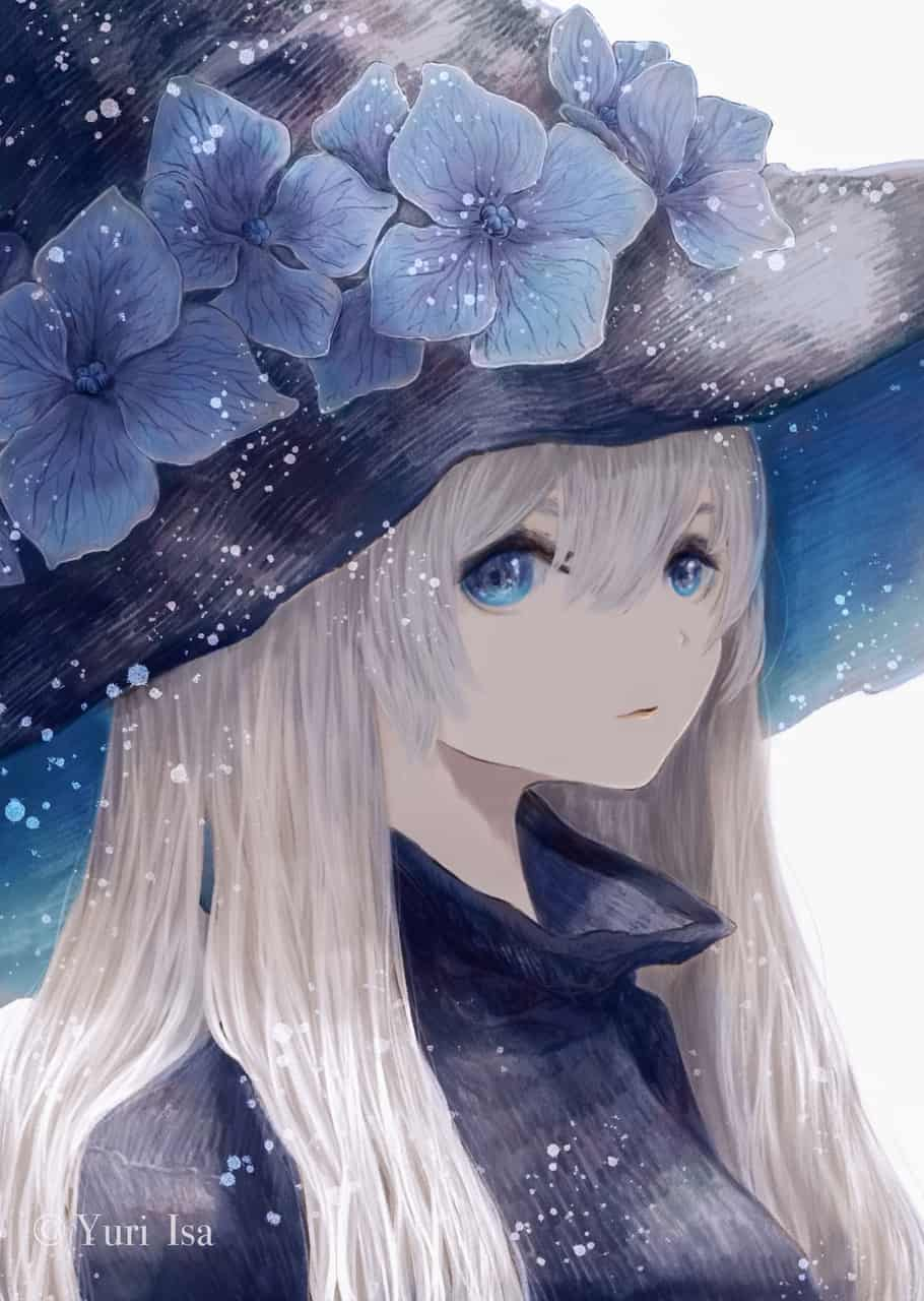 紫陽花の魔女 Illust of 伊砂祐李 (Yuri Isa) original witch hydrangea girl white_hair