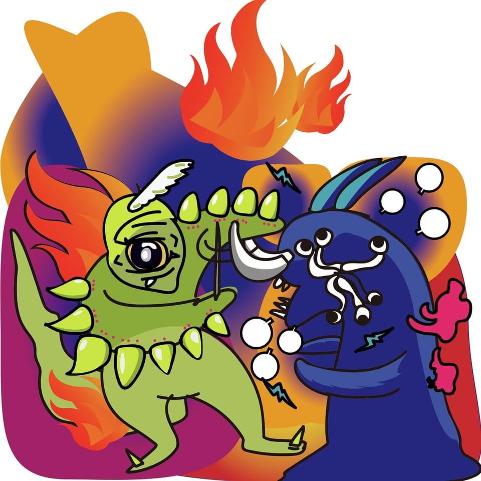 怪獸 Illust of Chou Hsiao Wei March2021_Creature 抱怨連連 最近,我們要殺掉那些每次都抱怨連連的怪獸