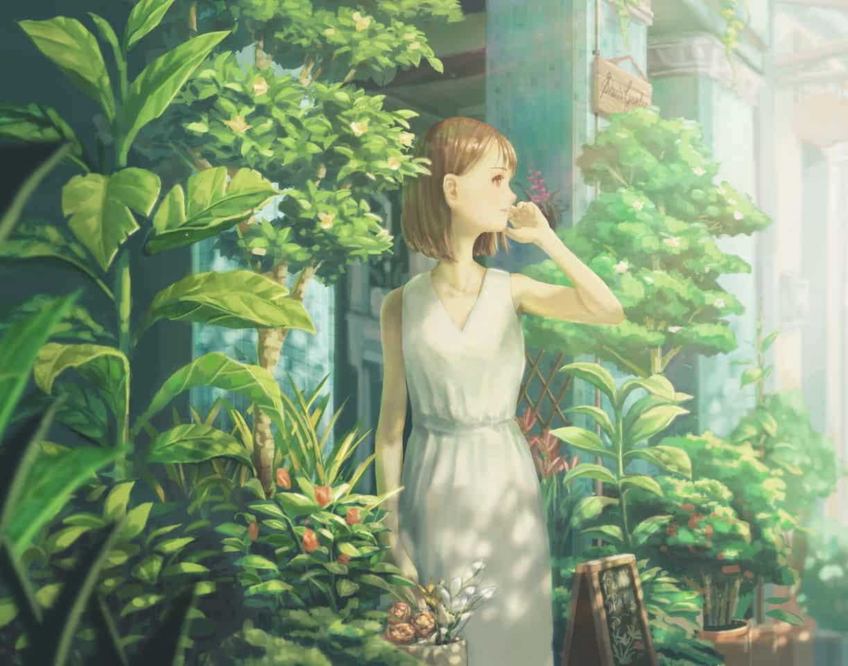 THE MORNING FLOWER SHOP Illust of shiann.p April2021_Flower dress girl flower illustration
