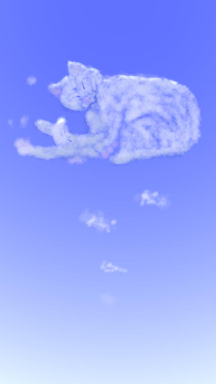 ねこくも Illust of すぃりゅう しろねこ sky clouds