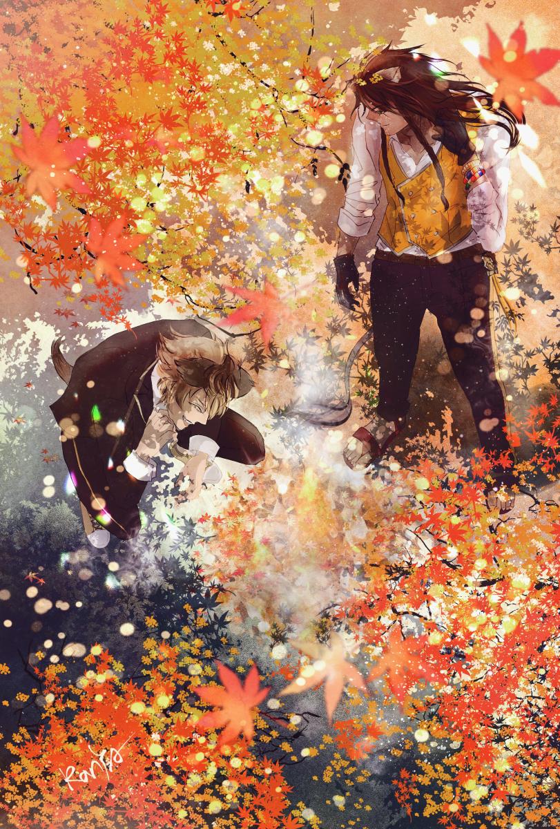 焼き芋 Illust of RanYA Twisted-Wonderland 紅葉 RuggieBucchi SAVANACLAW autumn LeonaKingscholar