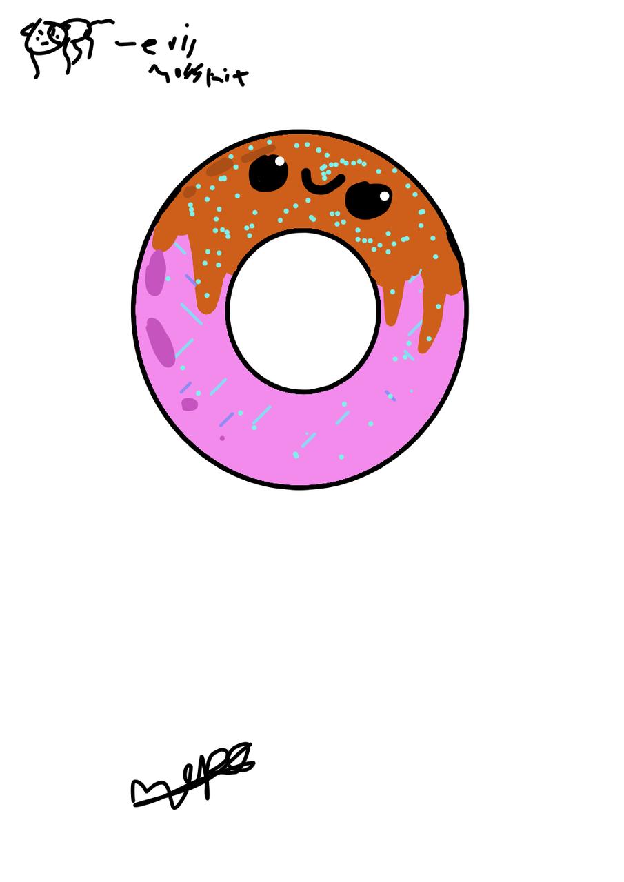 Donut Illust of Maple medibangpaint drip pink donut brown kawaii Mosskit cute kwaii food happy