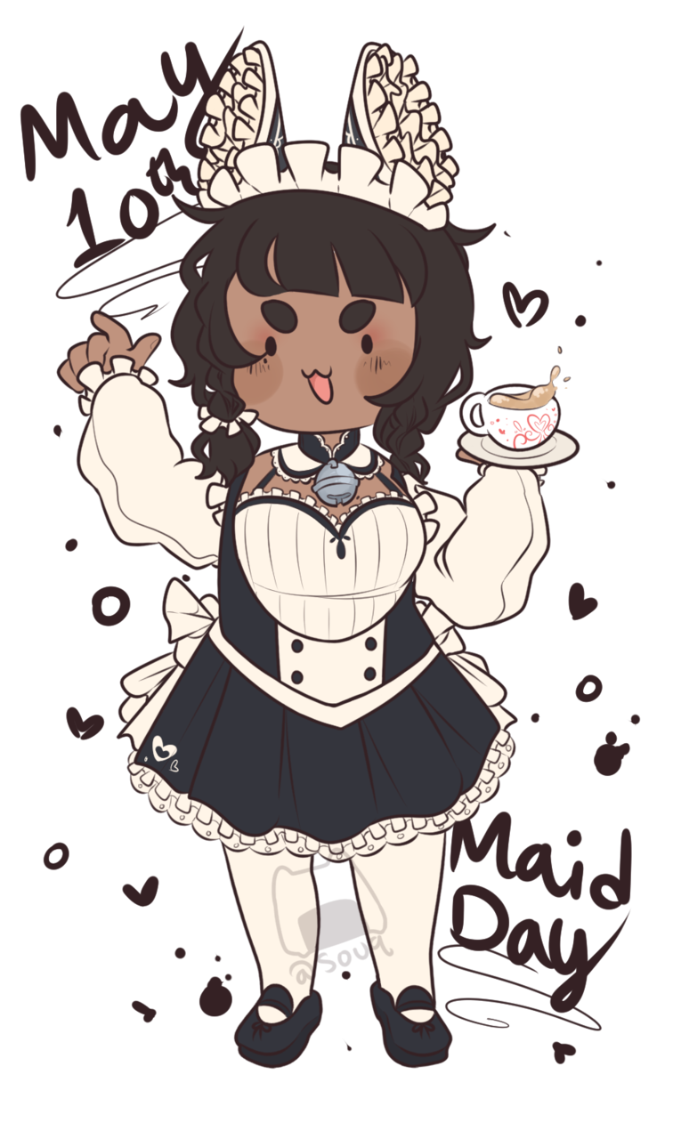 Submission for Maid Day Illust of souq art maid chibiart oc chibi drawing originalcharacters cute