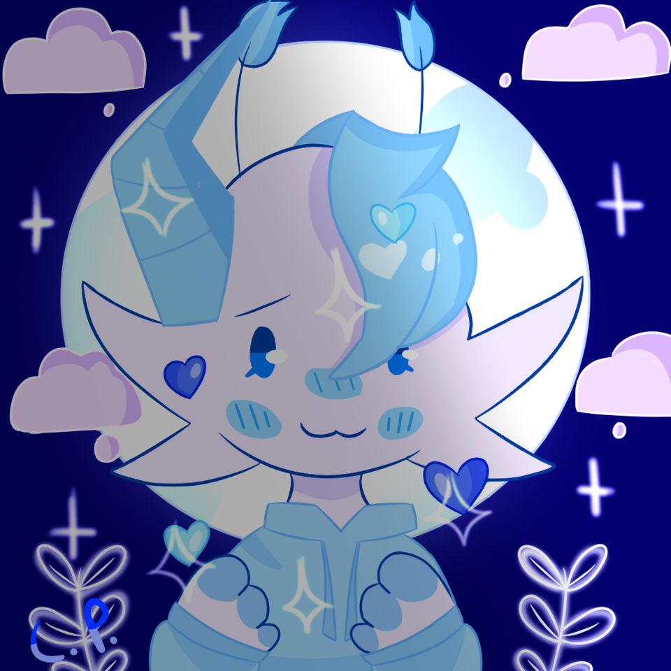 Gifto for Mayple :3 Illust of Creampuffu ☹ै medibangpaint blue mayple gift digital cute floof furry