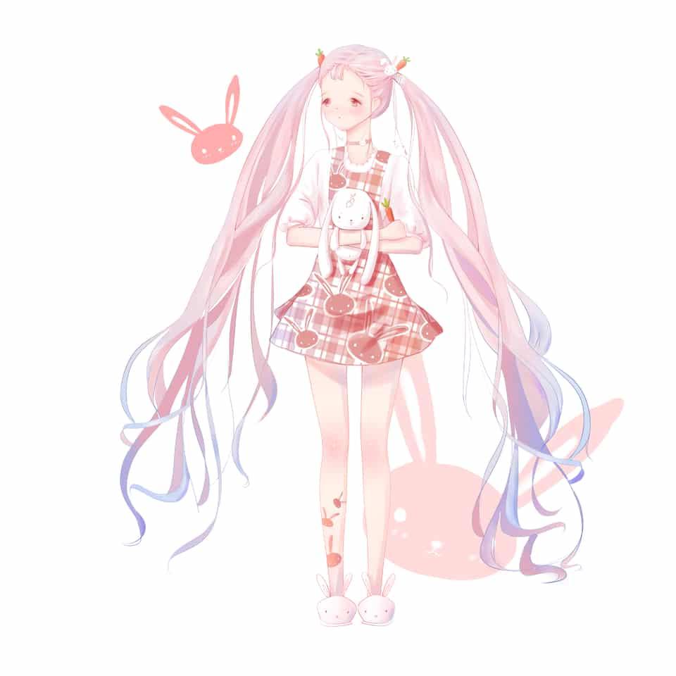 可可爱爱兔叽女孩