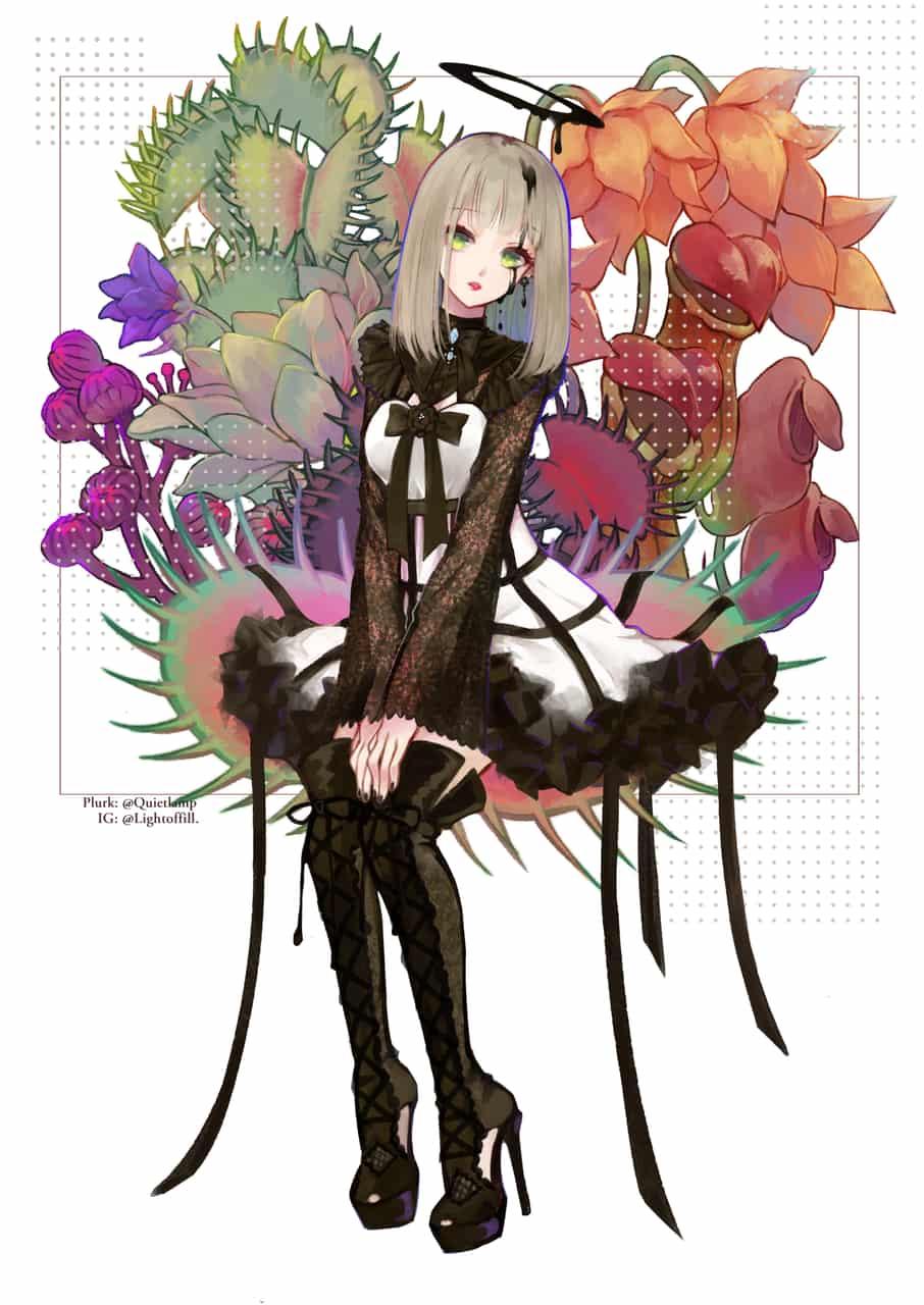 ░噬肉之花♥ Illust of 燈無 art girl 蘿莉塔服裝 animegirl digital illustration gothiclolita Lolita oc
