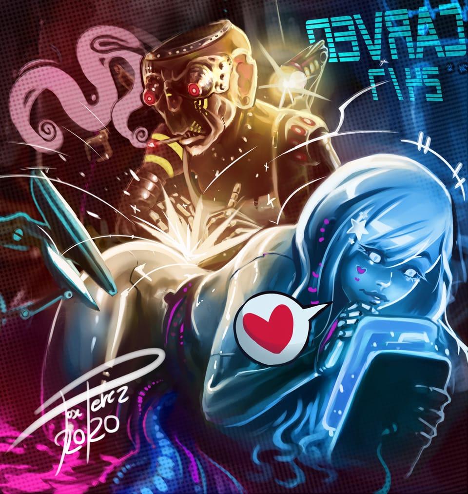ciber tatoo Illust of José Pérez November2020_Contest:Cyberpunk mecha girl ciberpunk digital