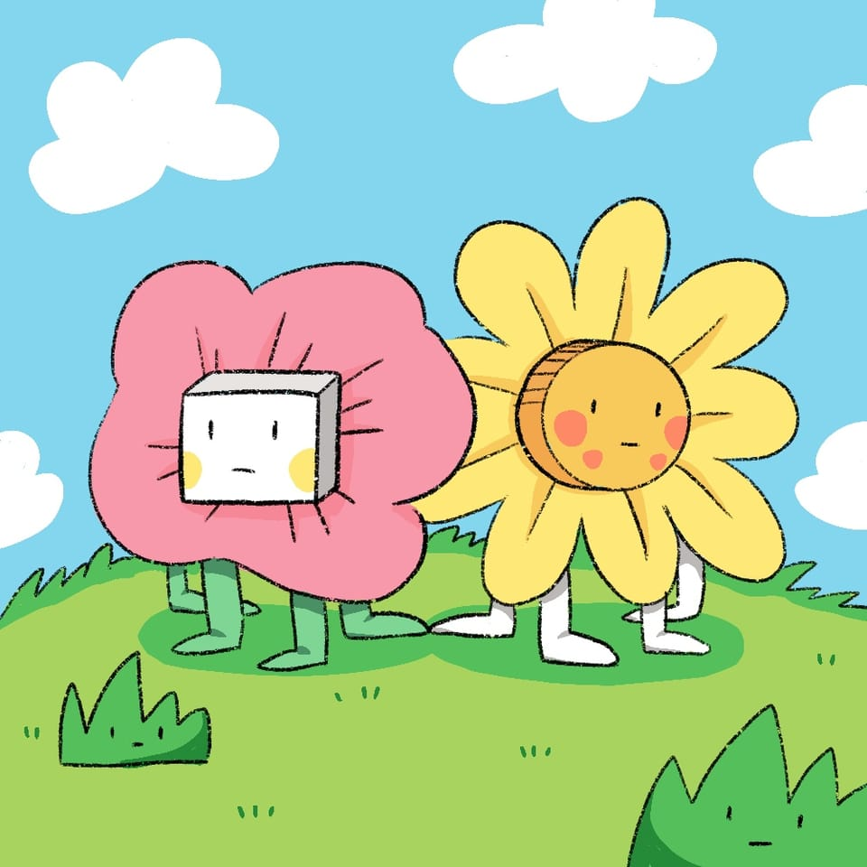 Cute Flower Monsters Illust of Lois March2021_Creature April2021_Flower