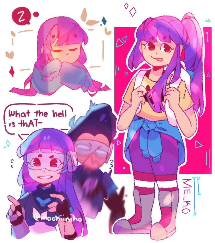 i believe in miko supremacy✨ Illust of MochiiNiko medibangpaint cute girl miko purple drawing aesthetic digital