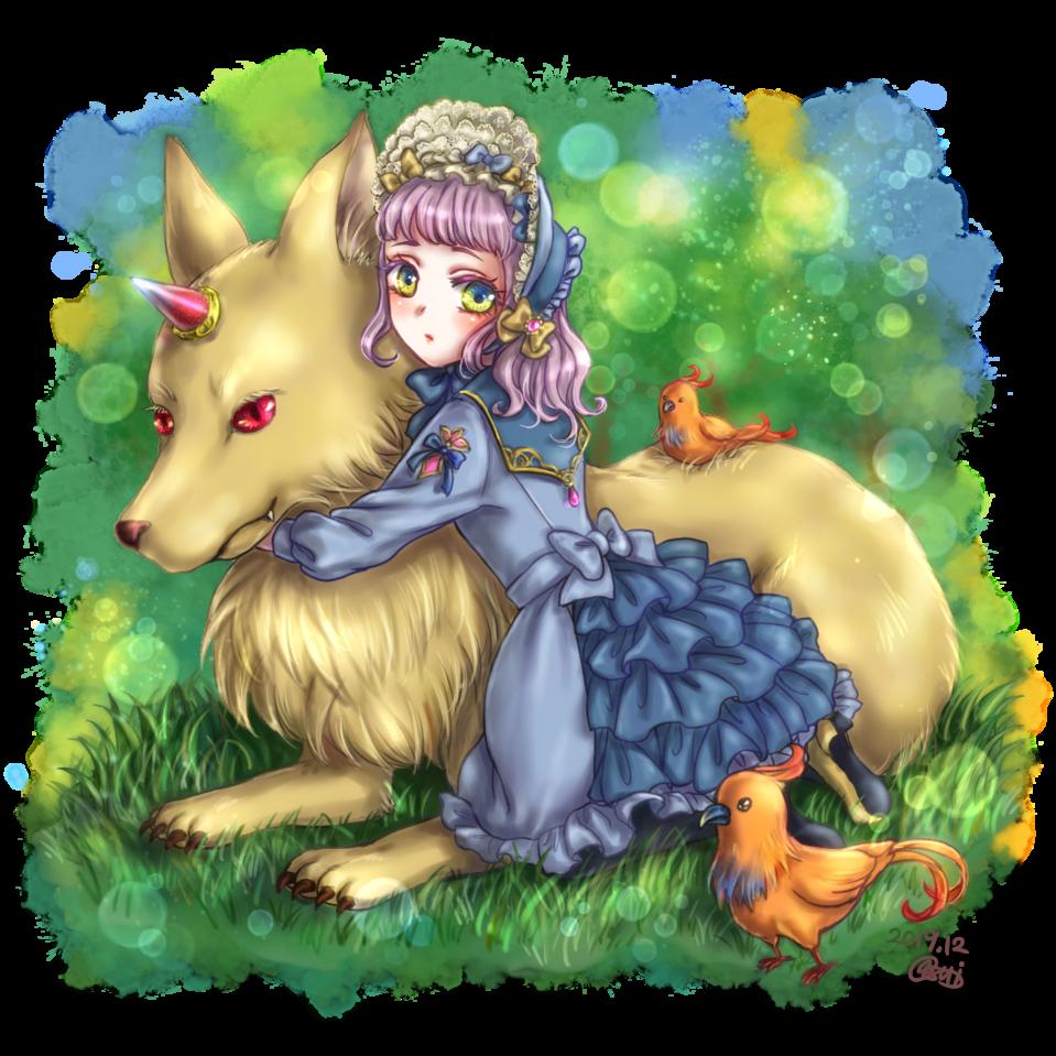 Illust of asui fantasy girl original フリル