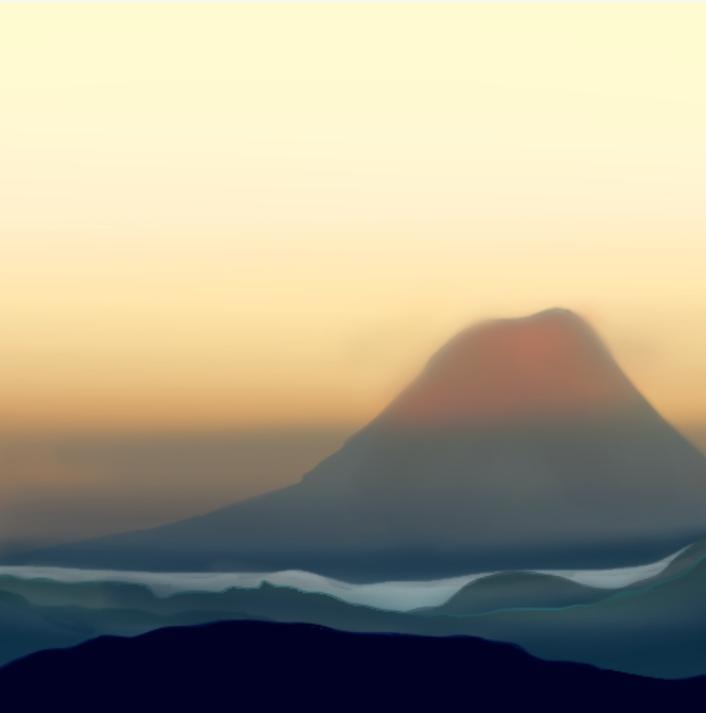 Nothing🤔🤣 Illust of Emaan scenery pastel Mountain