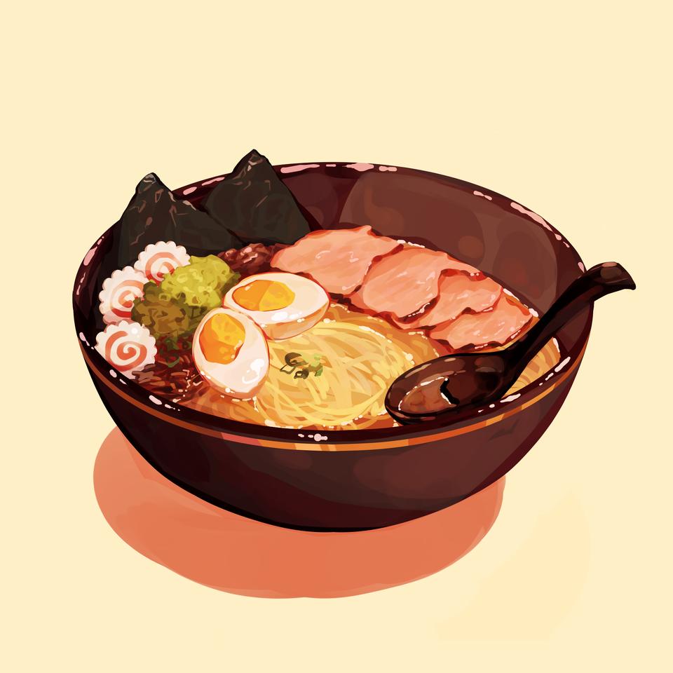 Ramen  Illust of Mumechi October2020_Contest:Food food illustration iPad_raffle art