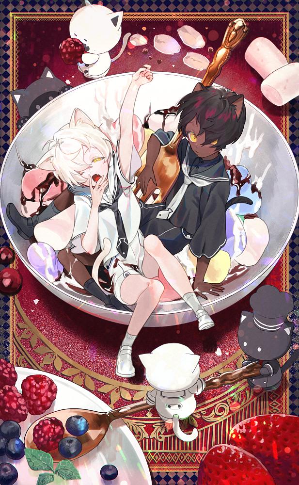 バレンタイン Illust of 牛野こも food original Valentine boy