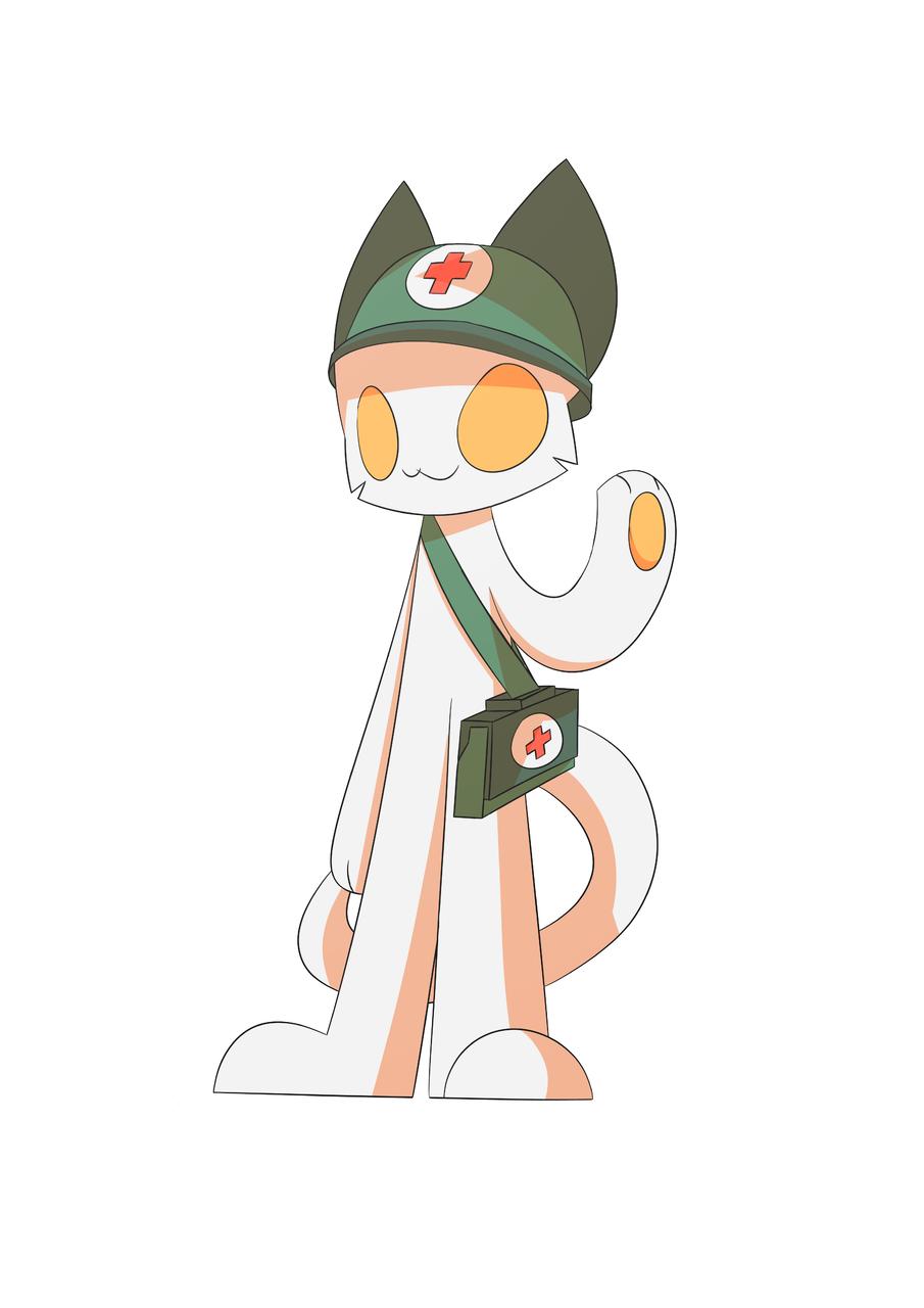 MEDIC FROM MILK CHOCO Illust of PopTwist medibangpaint cat Choco Milk furry Paramedic Medic