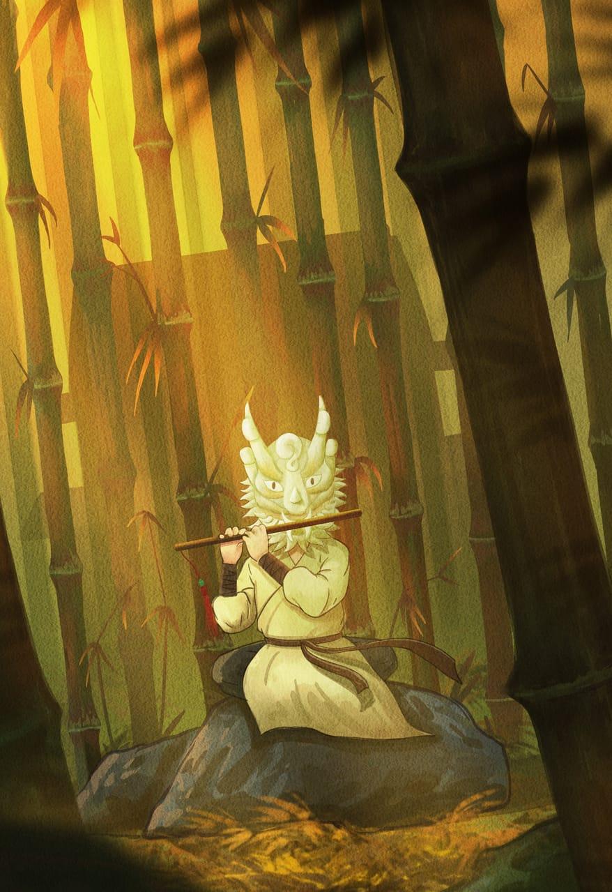 白麟游记 Illust of Fang yi bai medibangpaint5000 illustration original