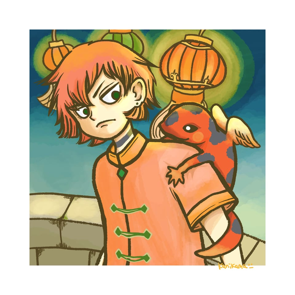 トカゲの天使ちゃん Illust of takehara January2021_Contest:OC medibangpaint