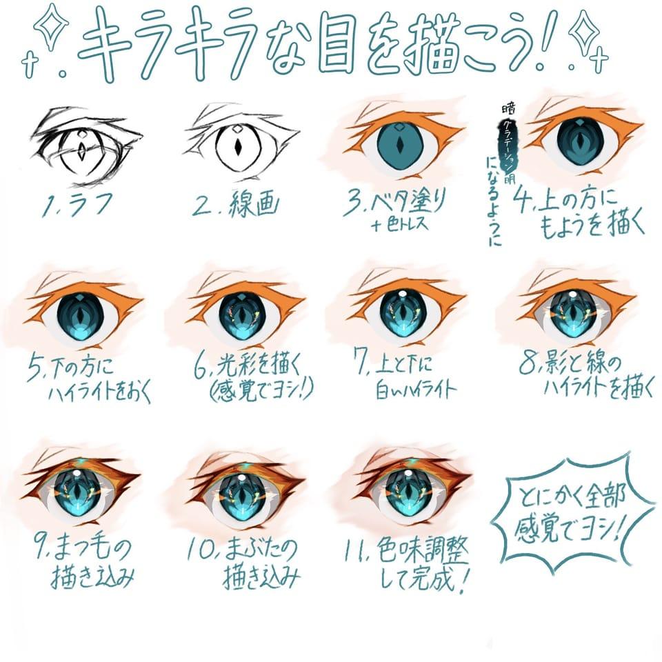 目イキング Illust of haruka The_Challengers 目イキング メイキング tutorial