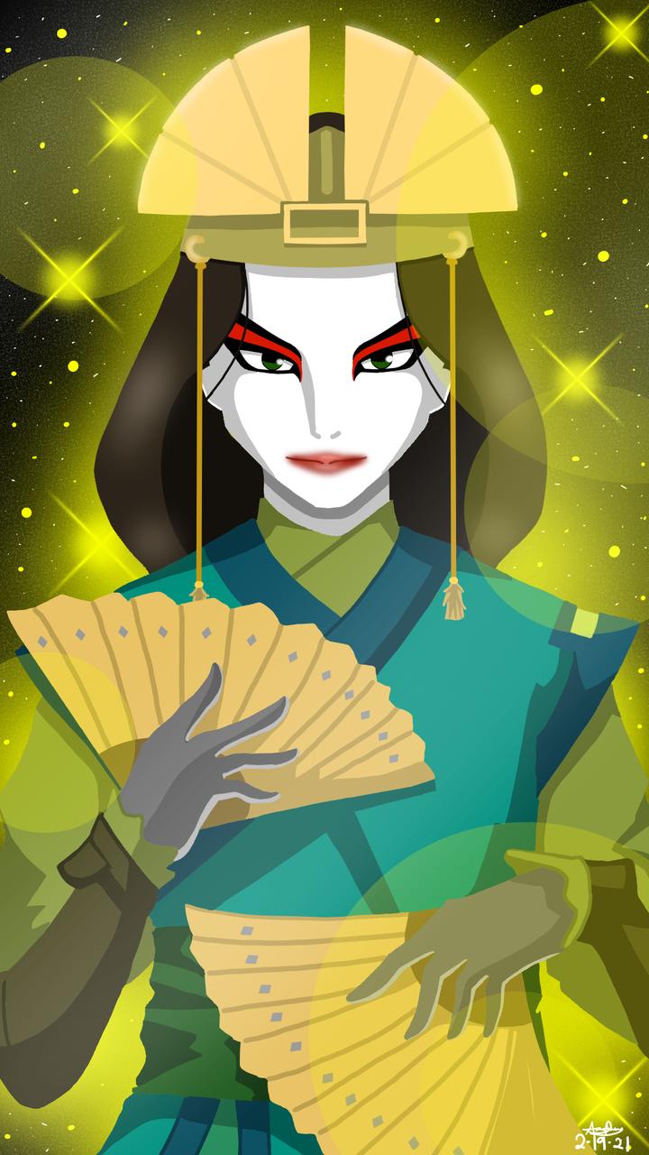 Avatar Kyoshi Digital Fanart Illust of DreyV Avatar Sparkle Glow digital
