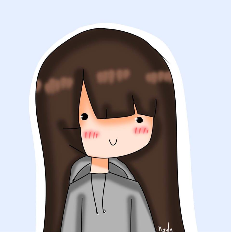 Profile Picture Illust of ᴋᴀʏʟᴀᴘʀɪɴɢʟᴇꜱ brown blue Kayla medibangpaint Bella