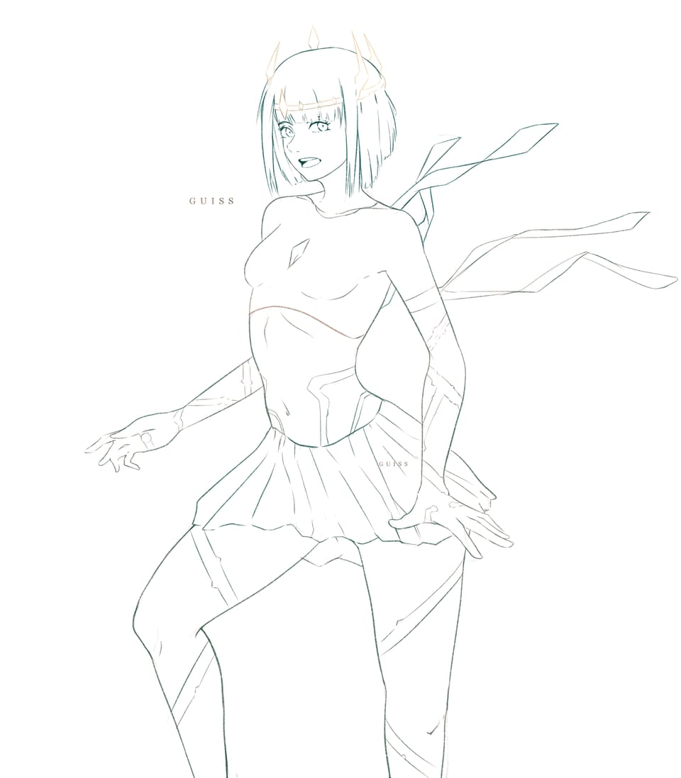 Leia Illust of Guiss art characterdesign illustration Artwork kawaii character line_art illustrations animegirl color