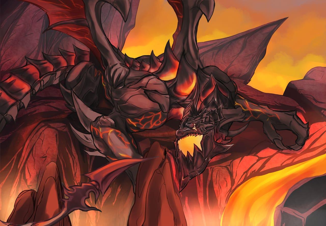 Deathwing Illust of Drizzy March2021_Creature worldofwarcraft deathwing Warcraft