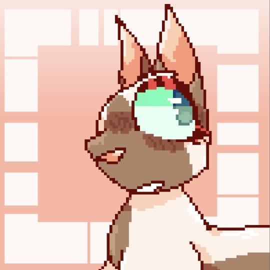Pixel art- Illust of cat on ø medibangpaint cat cyan digital pink Brown pixelart