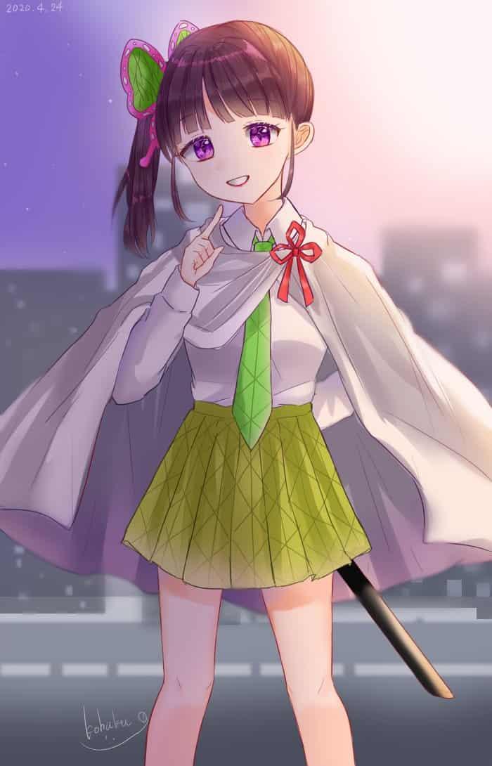 『皆には内緒にしてね』 Illust of 碧空こはく。 TsuyuriKanao fanfic KimetsunoYaiba