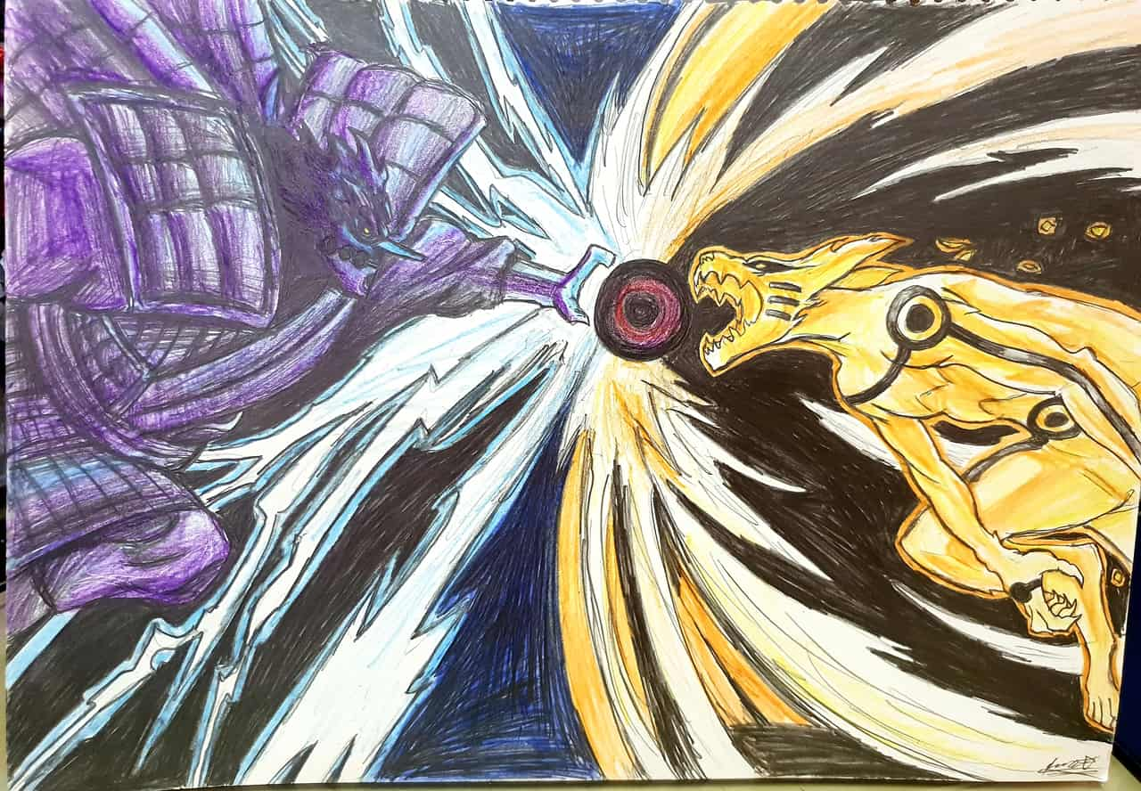 Sasuke(Susano) vs Naruto(Kurama)